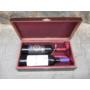 Kép 1/4 - lakkozott-boros-diszdoboz-barsony-belessel-2-bor-reszere