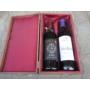 Kép 3/4 - Lakkozott boros díszdoboz bársony béléssel 2 bor részére